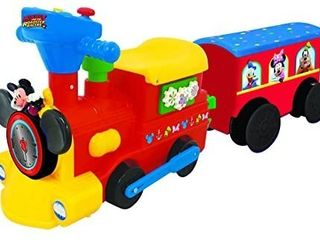 Kiddieland Toys limited Battery Powered Mickey Choo with Caboose   Tracks Ride On Multi 9 5 x 14 25 x 31 5 inches