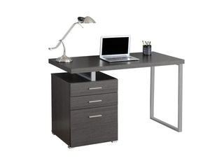 Computer Desk with Drawers Gray   EveryRoom