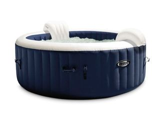 Intex PureSpa Plus 6 Person Portable Inflatable Hot Tub Bubble Jet Spa  Navy