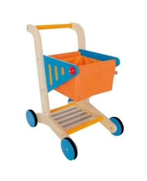 Hape Pretend Play Mini Wooden Kids Toddler Supermarket Grocery Shopping Cart