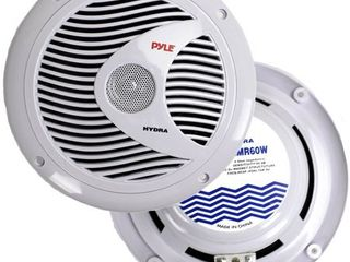 2  NEW Pyle PlMR60W 6 5  150 Watt Dual Cone Boat Marine Water Resistant Speakers