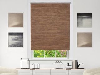 Privacy Cocoa Cordless light Filtering Woven Poly Jute Roller Shade 43x6  Retail   32 99