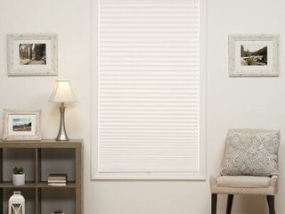 Cordless Semi Sheer Pleated Shade 35a white  Retail   65 99