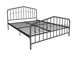Novogratz Bushwick Metal Bed  Multiple Colors and Sizes   Black   bed king
