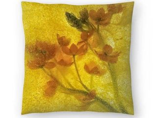 Yellow Ruby of the Valley Throw Pillow Cover  Retail   35 99