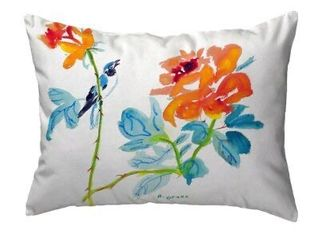 Bird   Roses Indoor Outdoor lumbar Pillow Retail   37 99