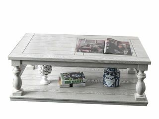 Hager Floor Shelf Coffee Table with Storage retail   569 99 CRACK ON TOP SIDE  FIXABlE WITH WOOD GlUE