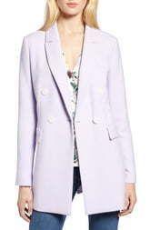 Women s Halogen X Atlantic Pacific Menswear Double Breasted Blazer  Size X large   Purple