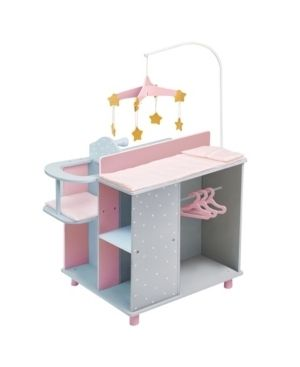 Olivia s little World   Baby Doll Furniture   Baby Changing Station with Storage  Gray Polka Dots