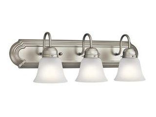 3 light Nickel Traditional Vanity light