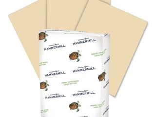 Hammermill Recycled Colored Paper  20 lb  8 1 2 x 11  Tan  500 Sheets Ream