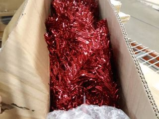 4  Red Tinsel Tree with Clear lights