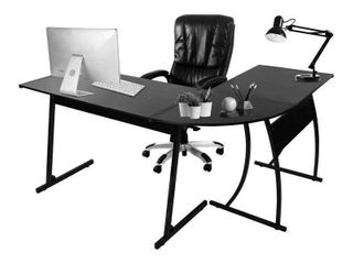 Gaming l Shaped Desk Black