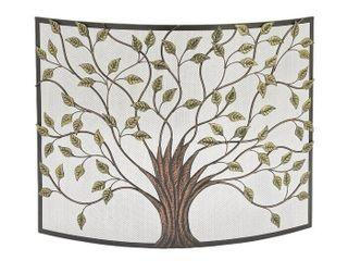 Mikayel Single Panel Iron Fireplace Screen