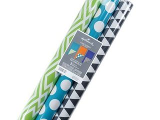 3ct Reversible Patterns Wrapping Paper   Hallmark