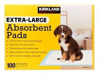Kirkland Signature Absorbent Training Pads  Extra large x 100