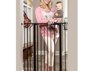 Regalo Easy StepAr Extra Tall Walk Thru Baby Gate  Bonus Kit  Includes 4 Inch Extension Kit  4 Pack of Pressure Mount Kit and 4 Pack of Wall Cups and Mounting Kit  Black