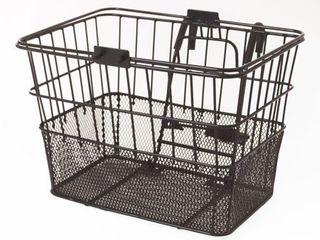 Retrospec Bicycles Detachable Steel Half Mesh Apollo Bike Basket with Handles  Black