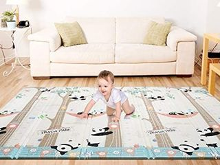 Bammax Play Mat  Folding Mat Baby Crawling Mat Kids Playmat Waterproof Non Toxic for Babies  Infants  Toddlers  70  x 77 5  x 0 6