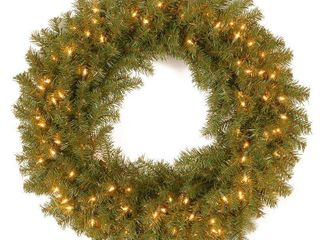 30  Norwood Fir Wreath with Battery Operated Dual Color lED lights
