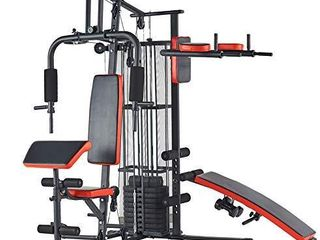 BalanceFrom Home Gym System Workout Station with 380lB of Resistance  145lB Weight Stack  Comes with Installation Instruction Video