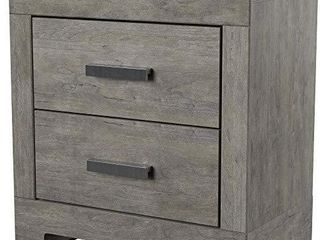 Ashley Furniture Signature Design   Culverbach Nightstand   Contemporary Style   Gray