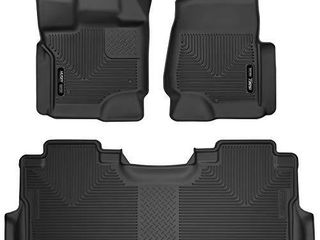 Husky liners   53388 Fits 2017 20 Ford F 250 F 350 Crew Cab   with factory storage box X act Contour Front   2nd Seat Floor Mats