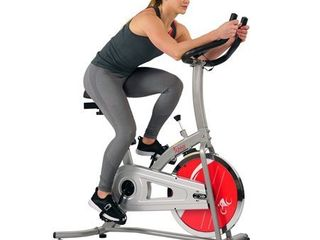 Sunny Health   Fitness Indoor Cycling Exercise Stationary Bike with Monitor and Flywheel Bike   SF B1203
