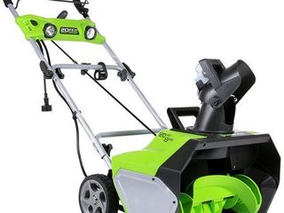 Greenworks 20 Inch 13 Amp Corded Snow Thrower With light Kit 2600202