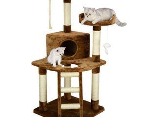 Go Pet Club Cat Tree 47 5 inch Brown