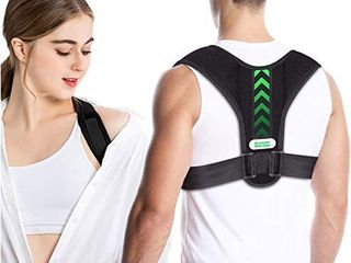summer rainbow Posture Corrector for Men and Women Upper Back Straightener Brace Sticker Adjustable Back Support Brace for Thoracic Kyphosis and Providing Shoulder   Neck Pain Relief  Universal