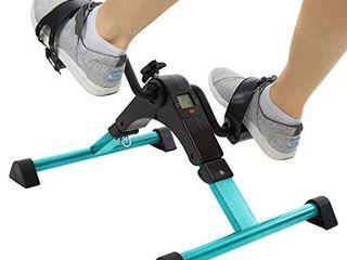 Vive Desk Bike Cycle   Foot Pedal Exerciser   Foldable Portable Foot  Hand  Arm  leg Exercise Pedaling Machine   Folding Mini Stationary Bike Pedaler  Fitness Rehab Gym Equipment  Teal