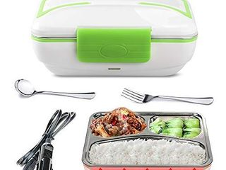 lOHOME Electric lunch Box   Insulated Self Heating lunch Box Bento Meal Heater Portable Car Food Warmer Stainless Steel lunch Containers with Car Plug in Function