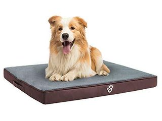 TR pet large Orthopedic Dog Bed for Dogs up to 40 80 100 lbs  Pet Foam Mattress with Removable Cover   Faux Fur Sleeping Surface