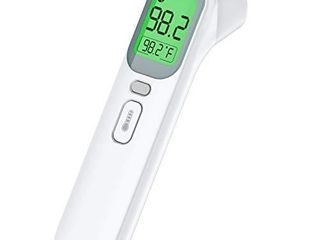 Vibeey Thermometer for Adults  Touchless Forehead and Ear Thermometer for Fever  4 Modes Digital Infrared Thermometer  No Touch Temporal Kid and Baby Thermometer