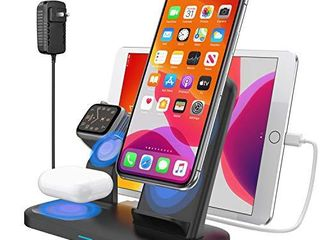 Wireless Charger 3 in 1 Wireless Charging Dock Station for Apple Airpods 2 Pro Fast Wireless Charger Stand for iPhone 11 11 Pro Max X XS XR 8 8 Plus  Compatibility with Apple Watch Series 5 4 3 2 1