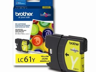 Brother lC61Y Ink Cartridge  325 Page Yield  Yellow