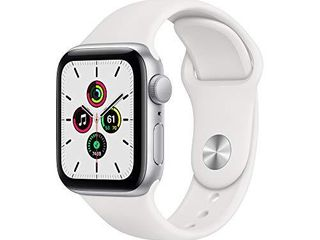 New Apple Watch SE  GPS  40mm    Silver Aluminum Case with White Sport Band