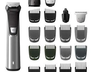 Philips Norelco Multigroom Series 7000 23 Piece Mens Grooming Kit  Trimmer for Beard  Head  Body  and Face MG7750 49 NOT FUllY INSPECTED