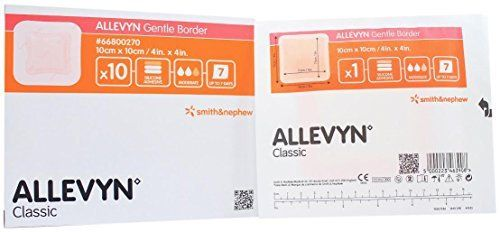 Smith and Nephew 66800270 Allevyn Gentle Border Dressing 4  x 4    Box of 10