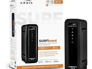 ARRIS SURFboard SBG10 DOCSIS 3 0 Cable Modem   AC1600 Dual Band Wi Fi Router  Approved for Cox  Spectrum  Xfinity   others  black