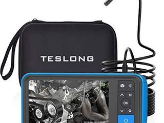 Industrial Endoscope with Screen  Teslong Upgrade 4 5inch Borescope Monitor with 5 5mm Waterproof Inspection Camera 5m 16ft