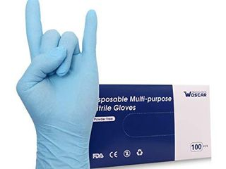 Wostar Nitrile Disposable Gloves 2 5 Mil Pack of 100  latex Free Safety Working Gloves for Food Handle or Industrial Use