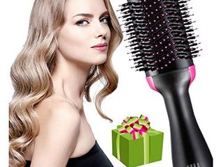 One step hair dryer and styler 4 in 1 multifunctional Hot air brush can replace straightener curling comb dryer  also used as a massage comb  Feature Anti scald Reduce Frizz and Static Styling