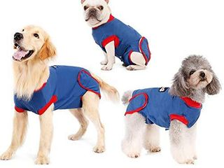 Recovery Suit for Dogs Cats After Surgery  Recovery Shirt for Male Female Dog Abdominal Wounds Size S no description