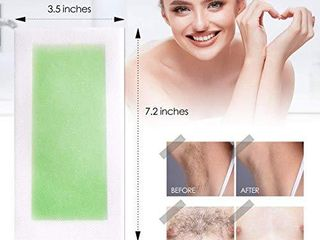 Avashine Wax Strips for Arms  legs  Underarm Hair  Eyebrow  Bikini  and Brazilian Hair Removal Contains  Green  HAS BEEN OPENED