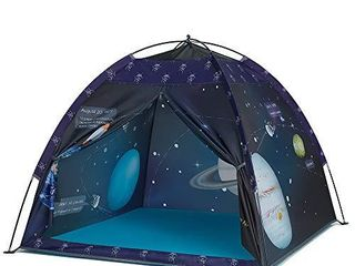 Space World Play Tent Kids Galaxy Dome Tent Playhouse for Boys and Girls Imaginative Play Astronaut Space for Kids Indoor and Outdoor Fun  Perfect Kidas Gift  47  x 47  x 43  NOT FUllY INSPECTED