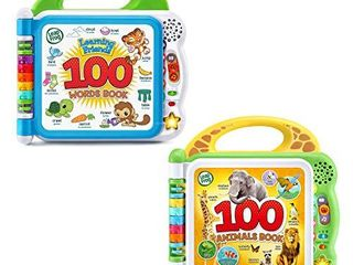leapFrog 100 Words and 100 Animals Book Set  6015 6095