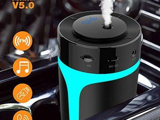 Upgraded  USB Car Humidifier with Bluetooth FM Transmitter  Hands Free Calling