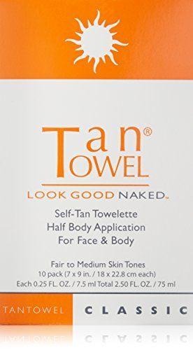 2  Tan Towel Self Tan Towelette Classic 1 has10 1 has 8 Count